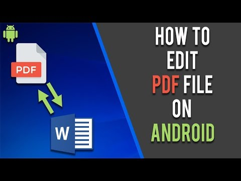 How To Edit PDF In Android | 2020