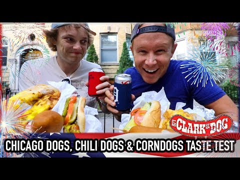 Hot Dog Taste Test from Clark Street Dog on the 4th of July