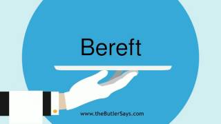 Learn How Say Word Bereft