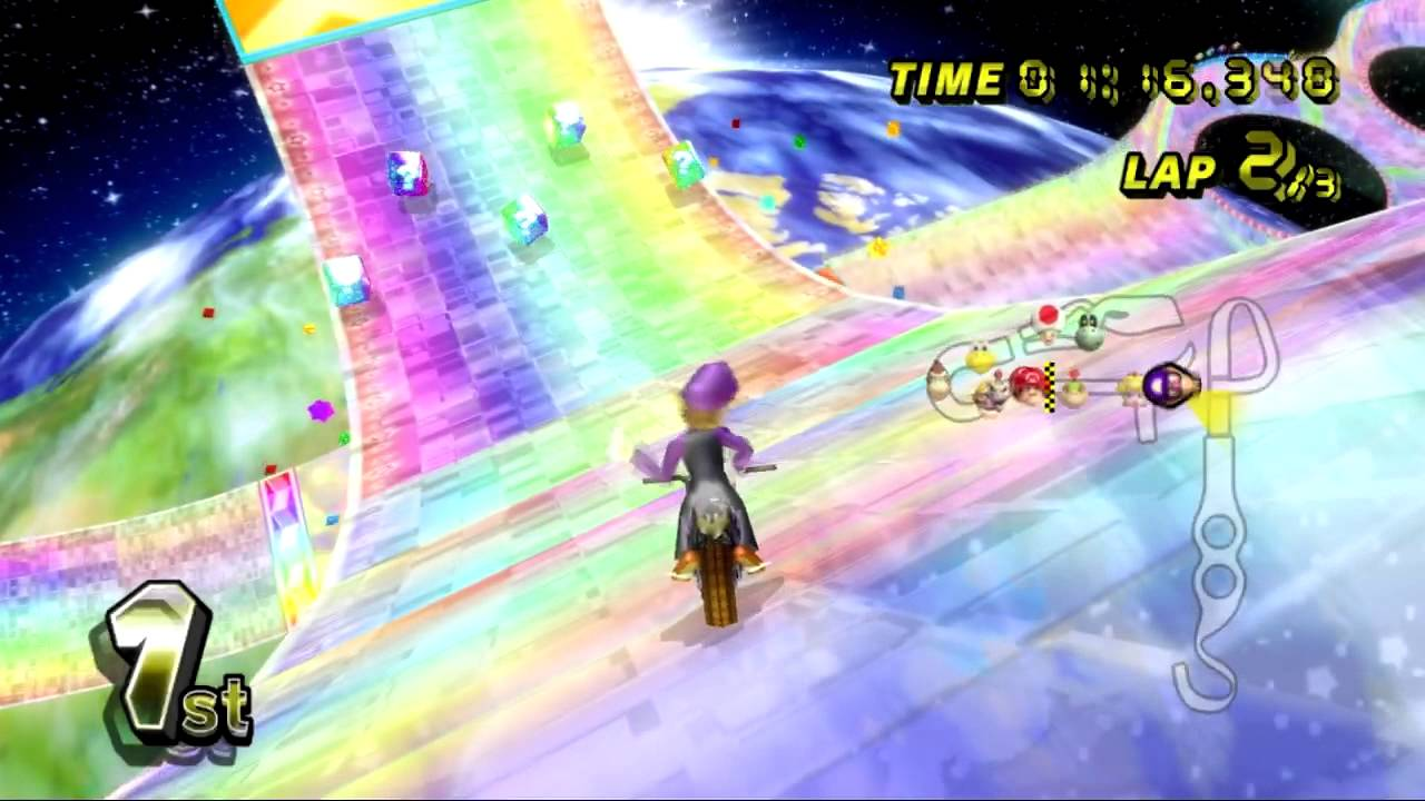 rainbow road mario kart wii tracks