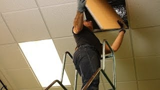 Removing Your Old Ceiling Tiles