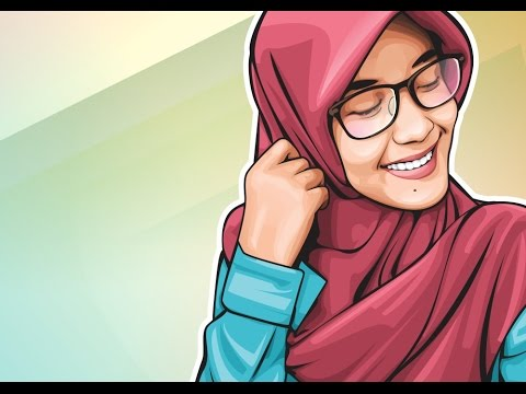 HOW TO DRAW VECTOR ART IN CORELDRAW   CUTE GIRL WEARING  HIJAB   part 1