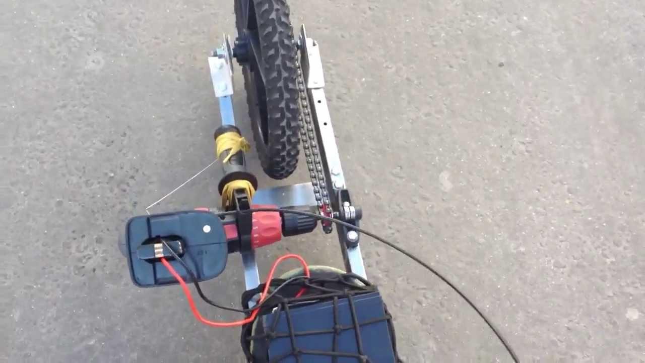 Drill Powered 5wheels Skateboard First Run Youtube