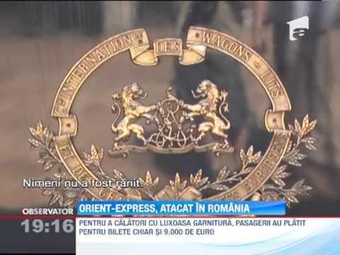 Trenul Orient Express a fost atacat cu pietre la Sighisoara