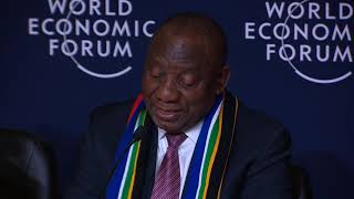 Davos 2019 - Press Conference with the President of South Africa