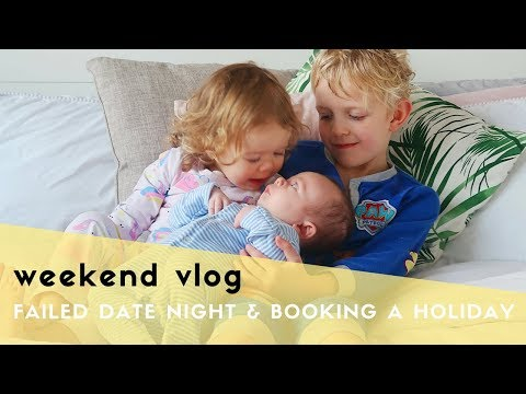 WEEKEND VLOG - I RUINED DATE NIGHT, WE BOOKED A HOLIDAY & WENT ON THE TINIEST TRAIN