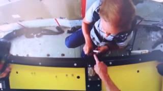 Escape artist pulls off locked coffin Skydive