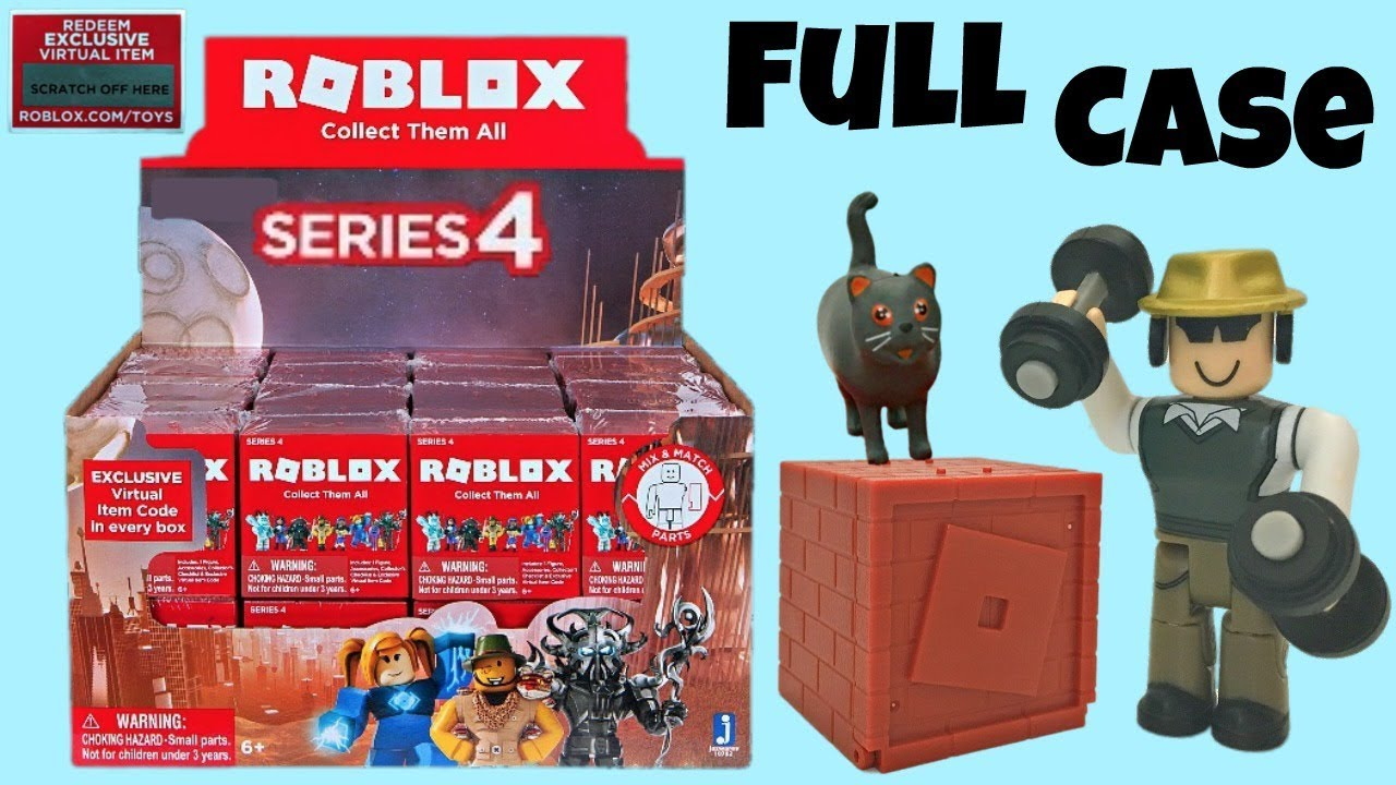 Roblox Series 4 - Roblox Series 4 Blind Boxes Code Items Full Case Unboxing Toy Review Mystery Figures