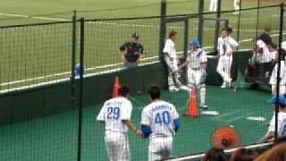 三井浩二投手 ブルペンにて