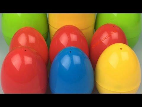 9 Surprise Eggs Teletubbies Yo Gabba Gabba! Minnie Mouse Disney Princess Smurf Iron Man Tayo 꼬마버스 타요