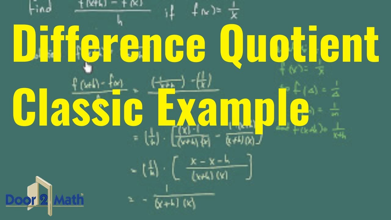 F X H F X H Calculus: *How To Work With Difference Quotient: [f(x+h)