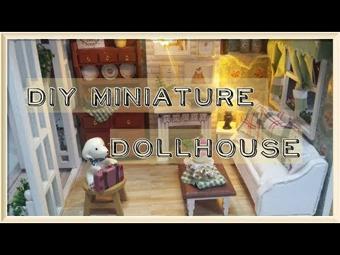 DIY ( watch me craft ) / Cute Room Forest Times Kits, Miniature, Dollhouse Kit / Modelling