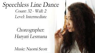 Speechless Line Dance - Choreography by Haryati Lesmana (d'ULD SUMBAR-INA) June 2019