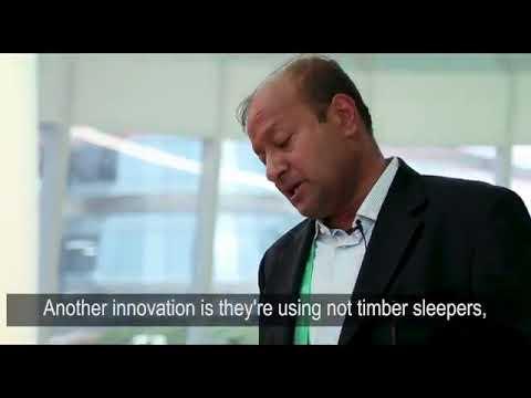 Sohail Hasnie presents Greenrail sleepers for Asian Development Bank