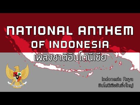 "National Anthem of Indonesia - เพลงชาติอินโดนีเซีย ""Indonesia Raya"""