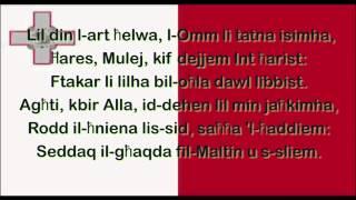 L-innu Malti (bil-kliem)