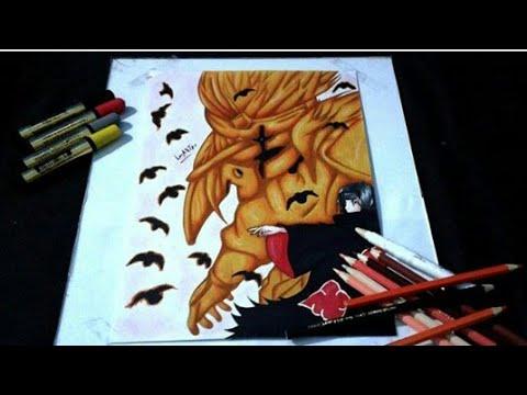 Speed Drawing Uchiha Itachi Akatsuki Naruto Shippuden Desenho