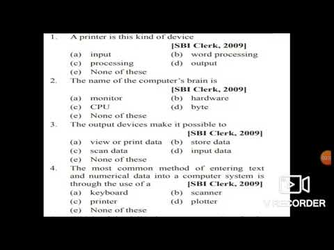 Download Computer (MCQ) JKSSB ACCOUNT ASSISTANT||INPUT AND OUTPUT DEVICE||MOST EXPECTED 45 QUESTIONS