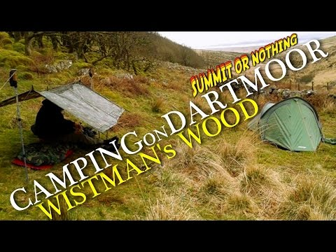Vango Mirage and 2 x 3 Tarp Wild camp - Wistman's Wood, Dartmoor