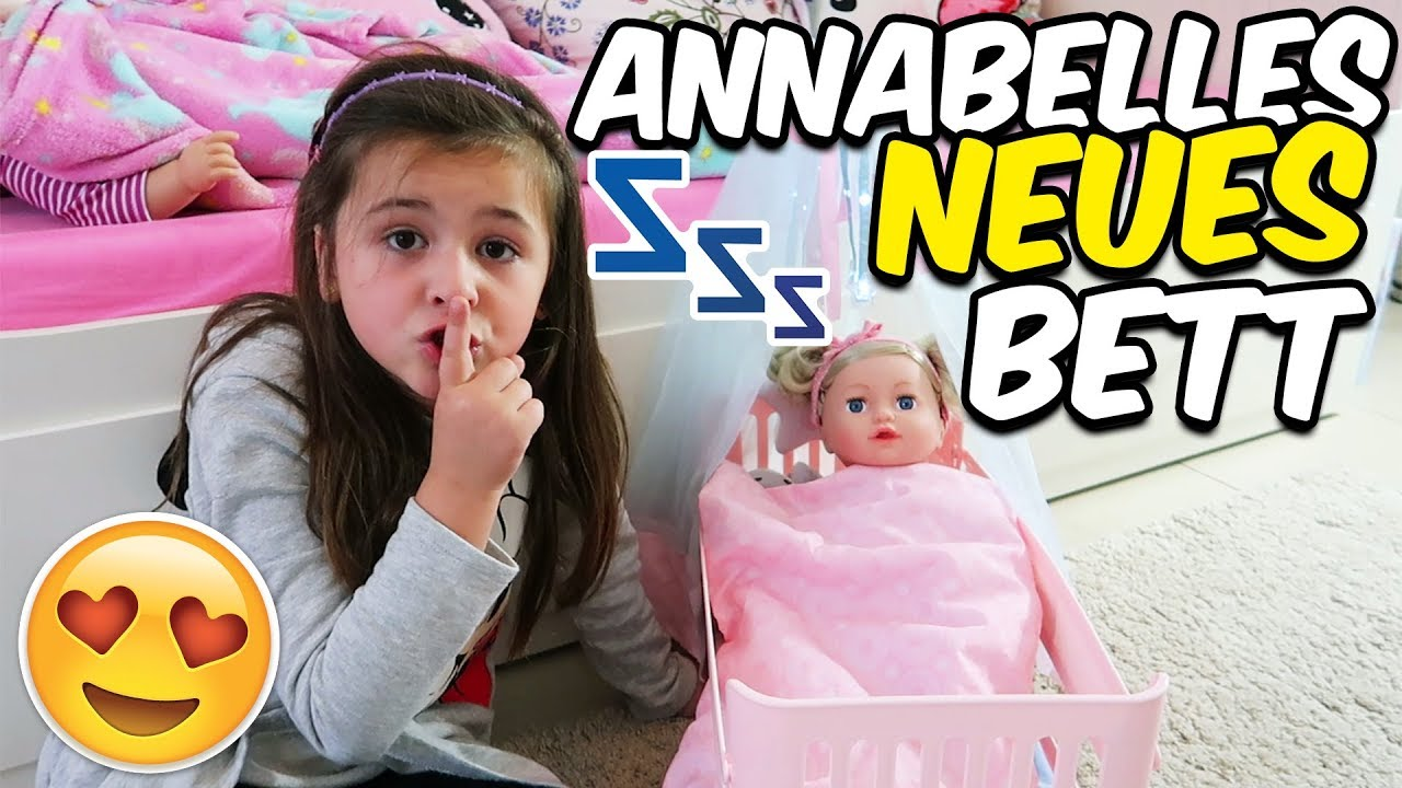neues bett f r baby born puppe annabelle geschichten und spielzeug youtube. Black Bedroom Furniture Sets. Home Design Ideas