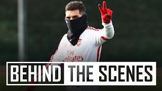 BEHIND THE SCENES | Arsenal get up for the cup in training!