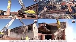 VOLVO EC750EHR Abbruch / Demolition Lederfabrik Breuninger, Schorndorf, 06.02.2020.