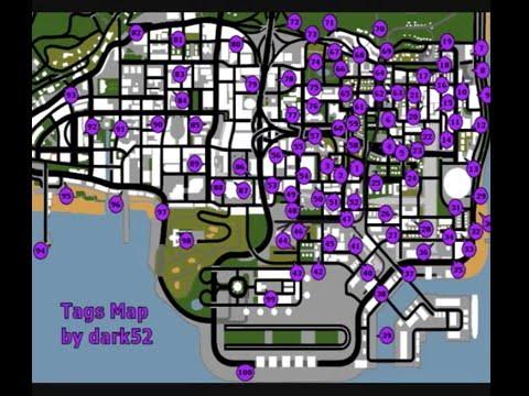 gta sa graffiti map - YouTube
