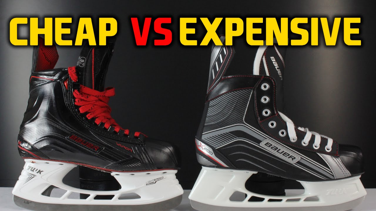 5e84f1de8f7 Cheap hockey skates VS expensive skates - What s the difference - YouTube