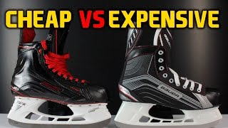 Cheap hockey skates VS expensive skates - What