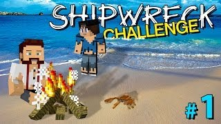 Minecraft: SHIPWRECK CHALLENGE #1 (with AshDubh)