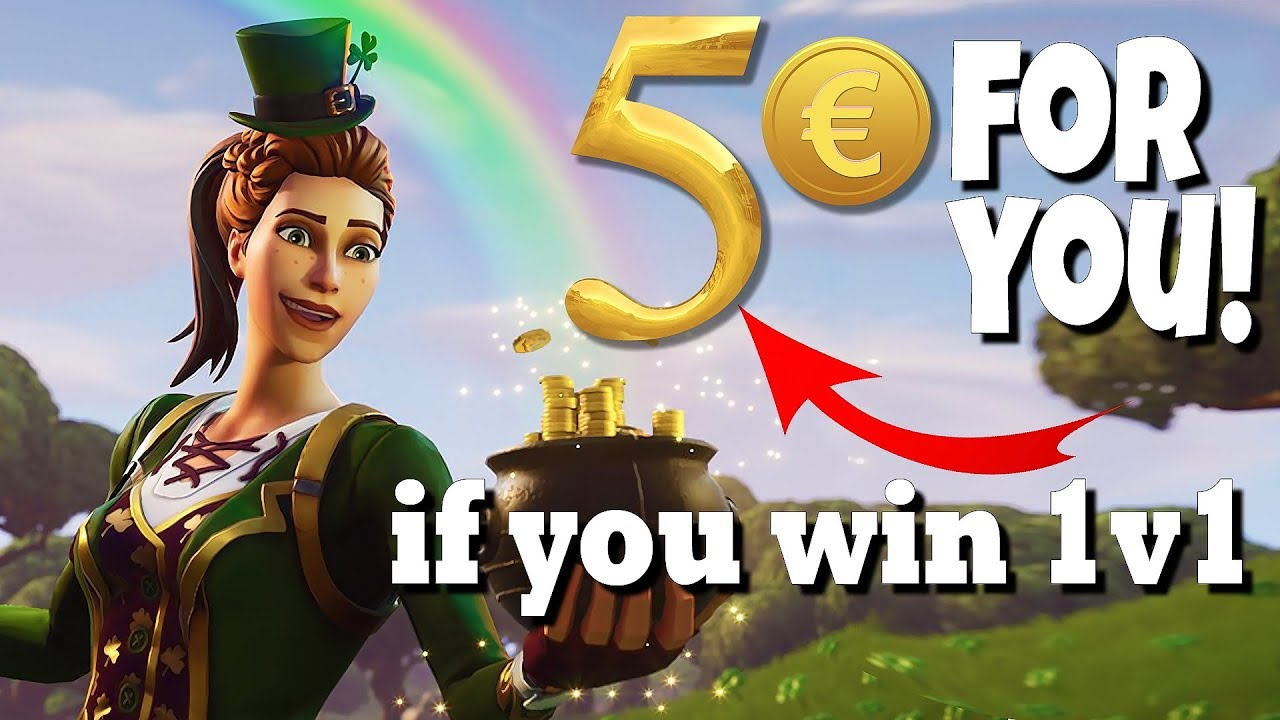 5€ for anyone who beats me in a 1v1 (Fortnite EU) no wagers