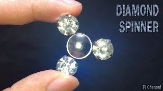 How to Make Mini Fidget Spinner With Bearings - DIY DIAMOND Fidget Spinner Tricks