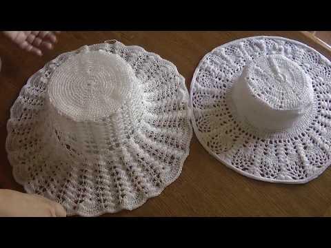 Как придать жёсткость краям шляпки связанной крючком