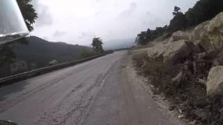 Driving through the Mang Yang pass to the KM 15 ambush site