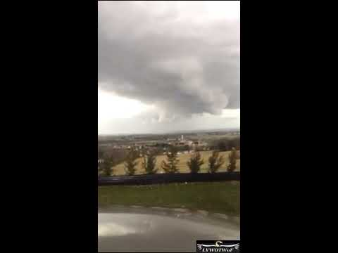 Tornado Warning In York, PA 2-25-17 2:30 pm