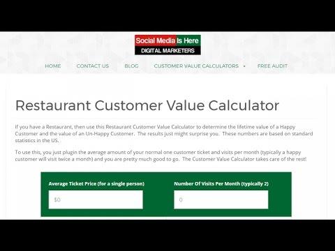 Restaurant Customer Value Calculator