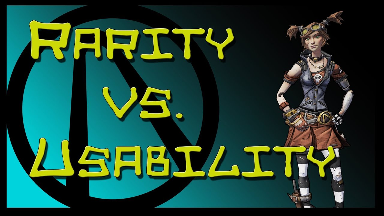 Borderlands 2 : Rarity vs  Usability : Weapon Tier Order
