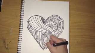 Drawing a Funky Heart