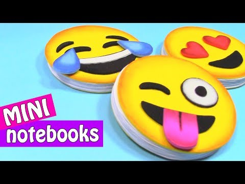 EMOJI MINI NOTEBOOKS. Very easy! - Innova Crafts