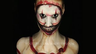 American Horror Story Freak Show Makeup Tutorial (Twisty)