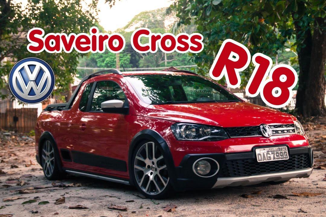 """Saveiro Cross R 18"""" Suspensão Fixa - Garage 92 - YouTube"""