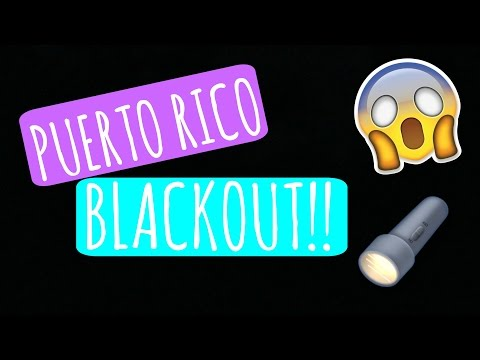 PUERTO RICO BLACKOUT 2016 #APAGONPR