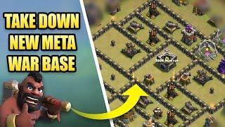 Take Down New Meta War Base   CWL March 2017 TH9 War Base   Clash Of Clans