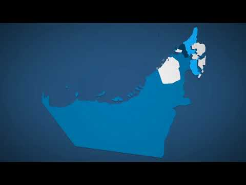 United Arab Emirates Map Kit | After Effects template