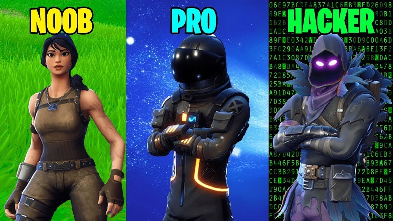 Joueurs Noob Vs Pro Vs Hacker Fortnite Battle Royale