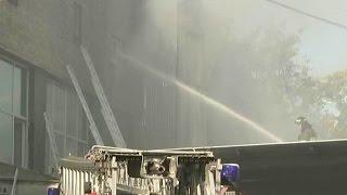 17 работниц типографии погибли во время пожара на складе в столичном Алтуфьево.