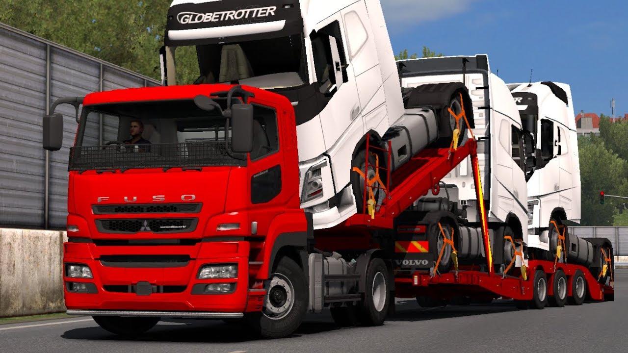 Mitsubishi Fuso SuperGreat 1 32 x | ETS2 mods | Euro truck