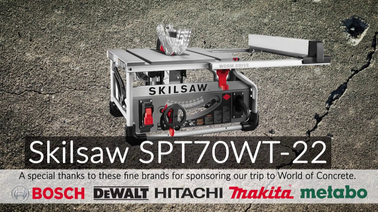 Skilsaw Worm Drive Table Saw Youtube