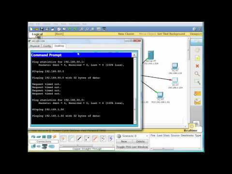 Cisco Switch Port Security Packet Tracer Demonstration - Part 1