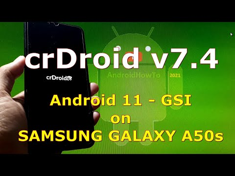 crDroid v7.4 Android 11 for Samsung Galaxy A50s - GSI ROM